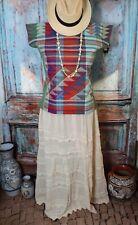 #5 Mayan Huipil Tunic Top New Style from Zinacantan Handwoven Chiapas Mexico