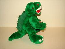 "VTG 1980s Anico Green Godzilla Monster Plush Stuffed Animal Doll Toy 14"" Rare"