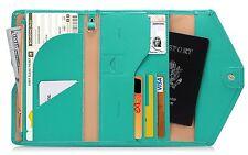Zoppen Mulit-purpose Rfid Blocking Travel Passport Wallet Ver.4 Tri-fold Holder,