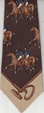 Como-Seta Di Como-Como API-Horse Theme- Silk/Wool-Made In Italy-Co1-Men's Tie