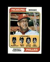 Danny Ozark Hand Signed 1974 Topps Philadelphia Phillies Autographed