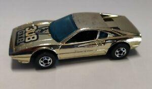Hot Wheels Vintage Blackwall Golden Machines Ferrari 308GTB with playwear.