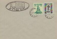 Poland postmark STARGARD SZCZECINSKI - 100 years Polish stamp stagecoach horse