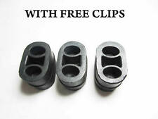VAUXHALL ASTRA G X 3 HANGER SUPPORT MOUNT EXHAUST SILENCER CLAMP FREE CLIPS