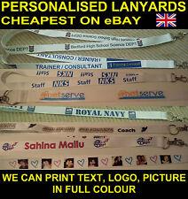 Custom personalised lanyards full colour cheapest on eBay