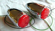 1939 Chevrolet Chrome LED Tail Lights With Housing that fits 39 Chevy,Hot Rod