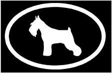White Vinyl Decal - Schnauzer euro dog puppy pup fun sticker truck
