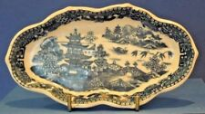Caughley Spoon Tray.  Blue & white 'Pagoda' patt. C1780  Excellent condition