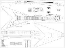 Gibson Flying V style Guitar plans