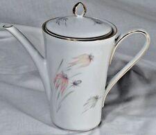 1950s 1960s Zeh Scherzer Bavaria Germany Pink Grey Wildflower Porcelain Tea Pot