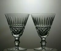"""WATERFORD CRYSTAL """"TRAMORE/MAEVE"""" CUT WATER GOBLETS SET OF 2 - 5 5/8"""" TALL"""