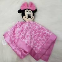 "Disney MINNIE MOUSE 12"" by 12"" Rattle Lovey / Security Blanket Toy"