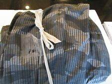 Pottery Barn Teen Classic Camo Camouflage queen sheet set black grey New