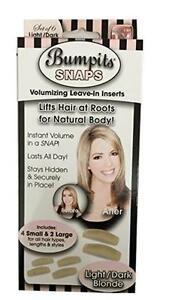 Bumpit Snaps Hair Volumizing Leave-in Inserts Dark Brown/black light Blonde