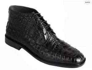 Los Altos Exotic Genuine All Crocodile Caiman  Men Ankle Boot Ankle Dress