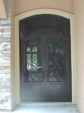 Double Wrought iron door, Forged door Glass incl 00001976 uded