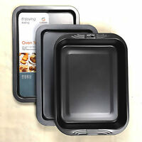 Get Goods Set Of 3 Enjoying Baking Oven Trays Non Stick Roasting Cooking Sheets