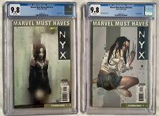 MARVEL MUST HAVES: NYX #22 (#1-3) + #23 (#4-5) CGC 9.8 Lot Set  🔥  1st X-23  🔥