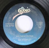 Country 45 Joe Stampley - All These Things / Let'S Get Together And Cry On Epic