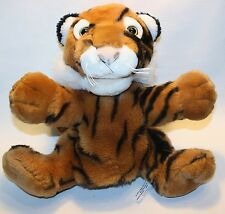 "15"" FAO Schwarz Tiger Realistic Plush Stripes Stuffed Animal Puppet Pretend Play"