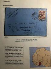 1940 Koforidua Gold Coast Censored Cover To Edinburgh Scotland