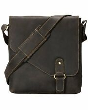 Visconti 16071 Genuine Leather Messenger Bag Cross-Body Shoulder Large Brown