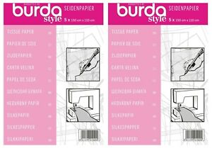 2 x Burda Tissue Tracing Paper Dressmaking Tailors Craft Uses