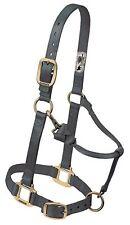 "Weaver Leather Original 1"" Horse Adjustable Throat Snap Nylon Graphite Halter"