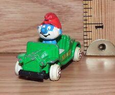 Vintage Peyo ERTL 1982 Papa Smurf Car #4 Die Cast Toy Car Only **READ**