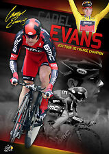 CADEL EVANS Tour De France Champion Limited Edition SIGNED PRINT *SALE*