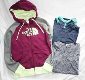 Women's Lot (3) NORTH FACE, UNDER ARMOUR & NIKE Full Zip Hoodie & Shirts Sz M