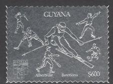 Guyana 6180 1992 Genova Exn En Plata-Olimpiadas esgrima, hockey, béisbol