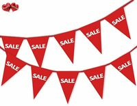 SALE Red Bunting Banner 15 flags For any shop retail sale and commercial site