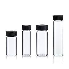 24 Asst Glass Vial Bottles 4 Sizes 6 - 10 Dram Clear