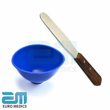 Lot de 2 laboratoire dentaire plâtre Spatule dentaire Bleu Mélange Alginate Bowl Nouveau