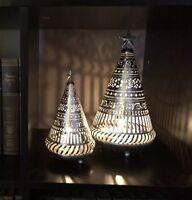 Akari Metal Christmas Tree Candle Holder Set Of 2
