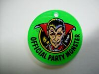 Dracula Bally Party Zone Original NOS 1991 Pinball Machine Key Chain Monster