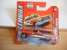 Matchbox Cadillac AMbulance in Orange on Blister