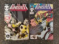THE PUNISHER #2 & #3 Marvel Comics 1987  Janson NM- 9.2
