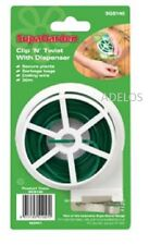 Clip N Twist Plant Tie Coiling Wire With Dispenser 30M