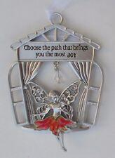 z Choose the path that brings you the most joy Garden Fairy Window Ornament ganz