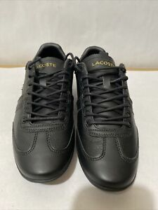 Men's Shoes Lacoste MISANO 119 Leather Lace Up Sneakers 37CMA008302H BLACK