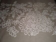 Threshold Fabric Shower Curtain Print Embroidered Botanical Cotton Brown 70 x 72