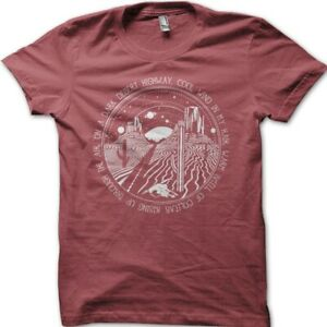 Hotel California lyrics Eagles tshirt printed cotton t-shirt 09061