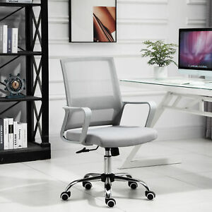 Vinsetto Ergonomic Office Chair Adjustable Height Breathable Mesh Swivel Grey