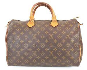 Authentic LOUIS VUITTON Speedy 35 Monogram Boston Handbag Purse #39077