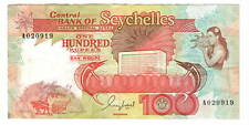 SEYCHELLES 100 Rupees VF+ Banknote ND (1989) P-35 Paper Money