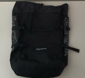 SS19 Supreme tote / backpack black Cordura fabric 2in1 bag