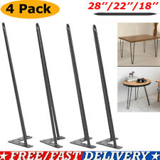 Coffee Metal Hairpin Table Legs 8 - 28 Inch Set of 4 Solid Iron Bar W/Screw Us