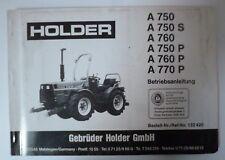 Holder Allradschlepper A750 + A760 + A770 Betriebsanleitung